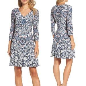 Eliza J Paisley Print Dress-Size 12